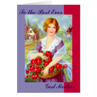 To the Best Ever God Mother Card