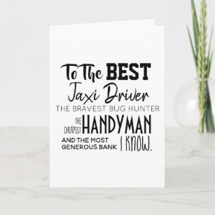 """""""To the best"""" - Happy Father's Day Card - Funny"""