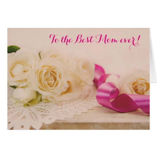 To the best mom ever card greeting card zazzle for Best holiday cards ever
