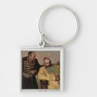 To the Boyar with a Denunciation, 1904 Silver-Colored Square Keychain