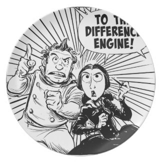 To The Difference Engine Panel Dinner Plate