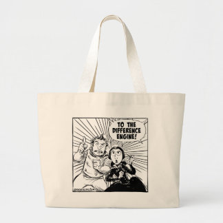 To The Difference Engine Panel Large Tote Bag