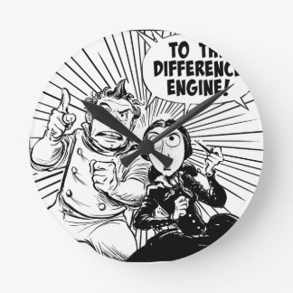 To The Difference Engine Panel Round Clock