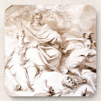 To the Genius of Franklin by Jean-Honore Fragonard Coaster