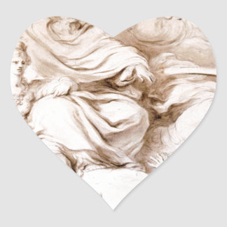 To the Genius of Franklin by Jean-Honore Fragonard Heart Sticker
