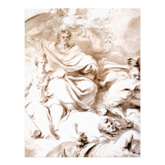 To the Genius of Franklin by Jean-Honore Fragonard Letterhead