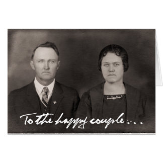 To the happy couple.  Greeting Card. Card