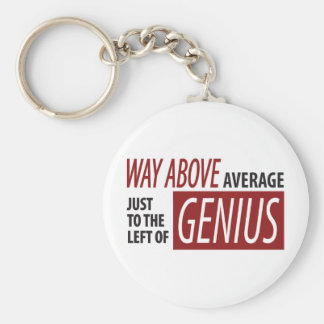 To The Left Of Genius Keychain