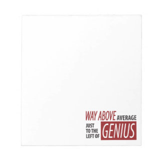 To The Left Of Genius Notepad