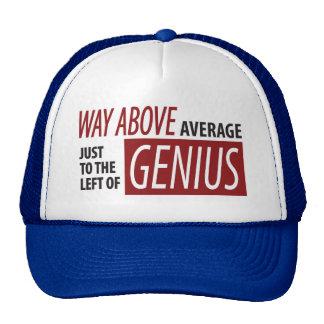 To The Left Of Genius Trucker Hat