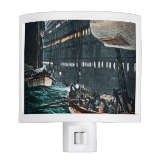 To the Lifeboats Titanic is Sinking Vintage Night Light