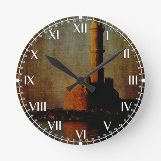 To the Lighthouse Round Clock