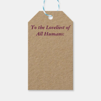 To the Loveliest Gift Tags