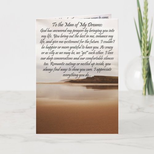 To The Man of My Dreams Birthday Card