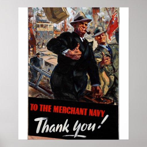 To the Merchant Navy_Propaganda Poster