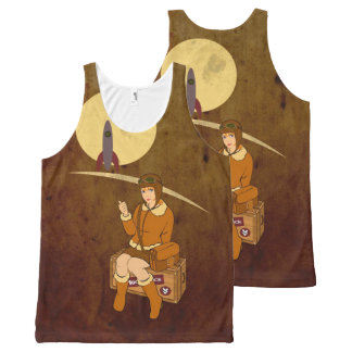 To the moon All-Over-Print tank top