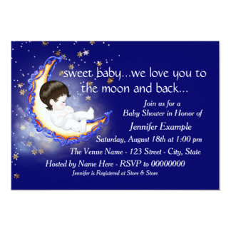 To The Moon and Back Baby Shower Card