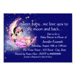 To The Moon and Back Baby Shower Custom Invites