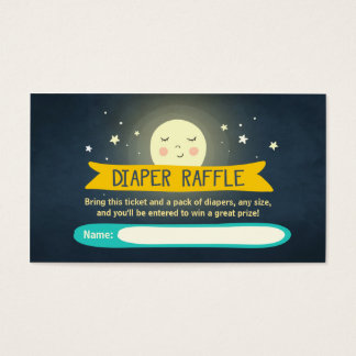 To the moon and back Baby Shower Diaper Raffle Business Card
