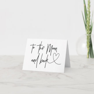 To The Moon And Back Bride to Groom Heart Card