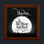 "To The Moon And Back Gift Box<br><div class=""desc"">Whether for your child,  a parent,  or a lover,  this popular expression always sends the message of abundant love. So say it with this beautiful design on a customizable gift they will treasure. I love you to the moon and back!</div>"