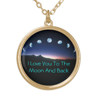 To The Moon And Back Gold Plated Necklace
