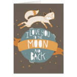 """To the moon and back"" Greeting Card"