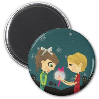 To the moon and back Pin 2 Inch Round Magnet