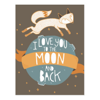 """To the moon and back"" Postcard"
