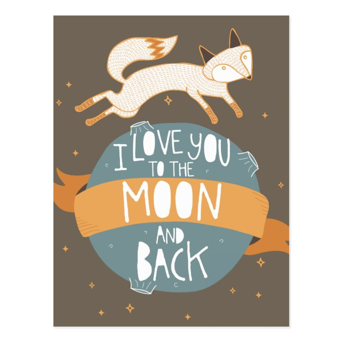 """""""To the moon and back"""" Postcard"""
