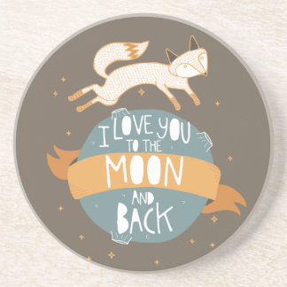 """""""To the moon and back"""" Sandstone Coaster"""