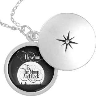 To The Moon And Back Silver Plated Necklace