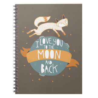 """""""To the moon and back"""" Spiral Notebook"""
