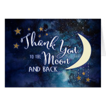 To the Moon and Back Thank You Cards