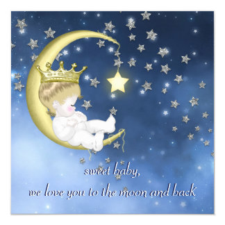 To The Moon Baby Shower Card