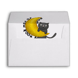 To The Moon & Back Kitty Cat Envelope