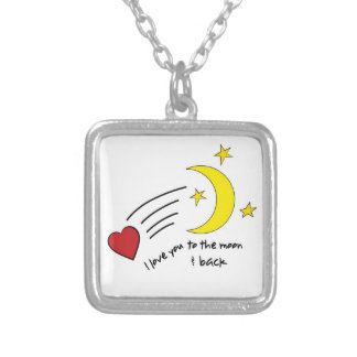 To The Moon & Back Square Pendant Necklace