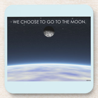 To The Moon Beverage Coaster