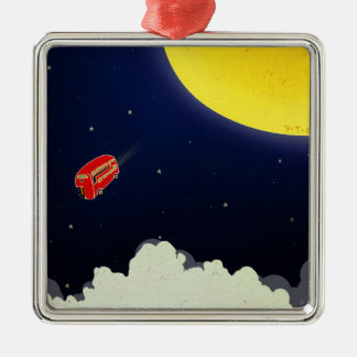 To the moon metal ornament