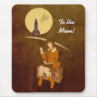 To the moon mouse pad