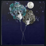 "To the moon, night sky skull balloons napkin<br><div class=""desc"">To the moon,  floral Skull balloons in the night sky</div>"