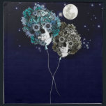 "To the moon, night sky skull balloons napkin<br><div class=""desc"">To the moon,  floral Skull balloons in the night sky</div>"
