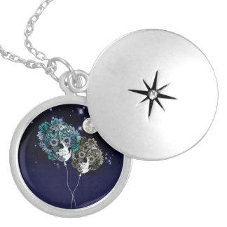 To the moon, night sky skull balloons pendants