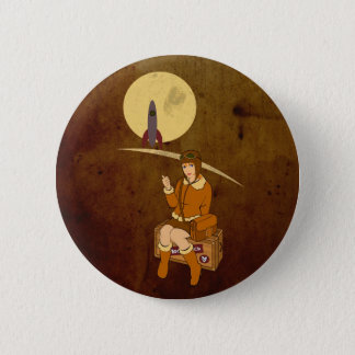 To the moon pinback button