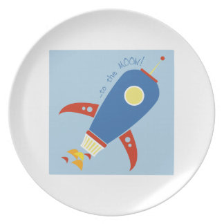 To The Moon Party Plate