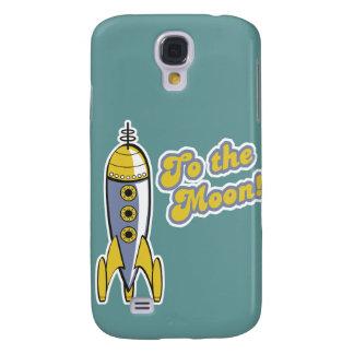 to the moon retro space rocket galaxy s4 case