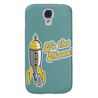 to the moon retro space rocket galaxy s4 cases