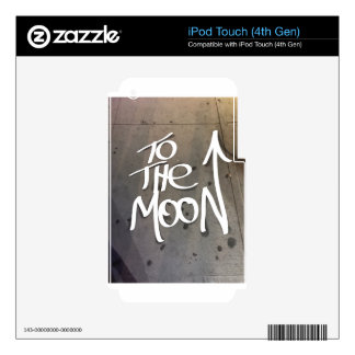 To the Moon Skins For iPod Touch 4G