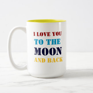 To the Moon Two-Tone Coffee Mug