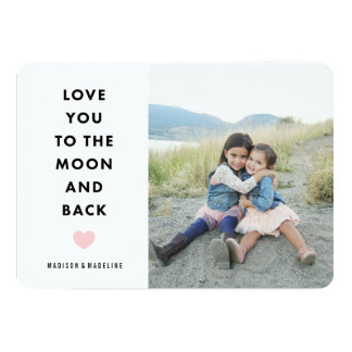 "To the Moon | Valentine's Day Photo Card 5"" X 7"" Invitation Card"
